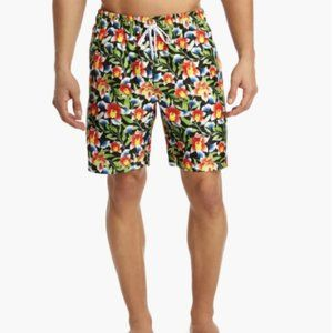 2xist Neon Floral Catalina Swim Shorts
